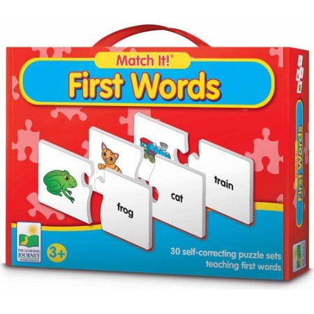 The Learning Journey Match It! First Words, Multicolor