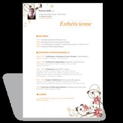 Modele Cv Word Original Estheticienne Et Coiffeuse A Telecharger Modele Cv Word Modele Cv Cv Gratuit Word