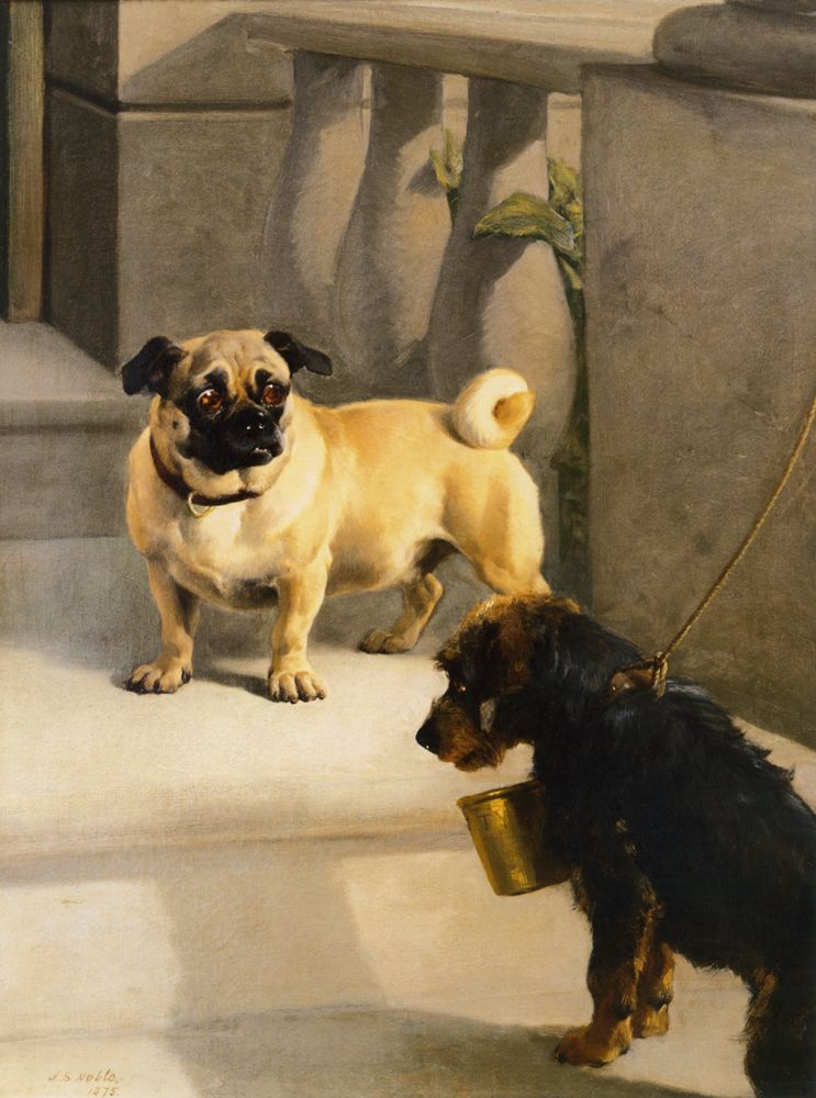 John Sargent Noble Pug And Terrier 1875 American Kennel Club Ny
