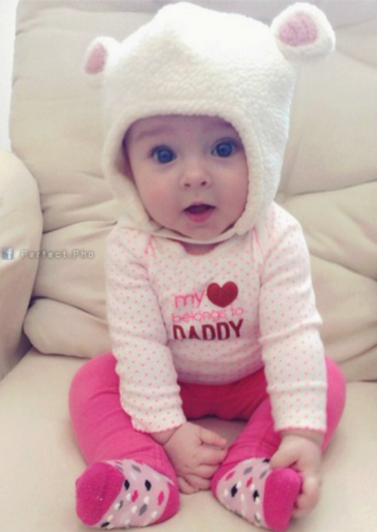 Download free cute baby face expression mobile wallpaper.