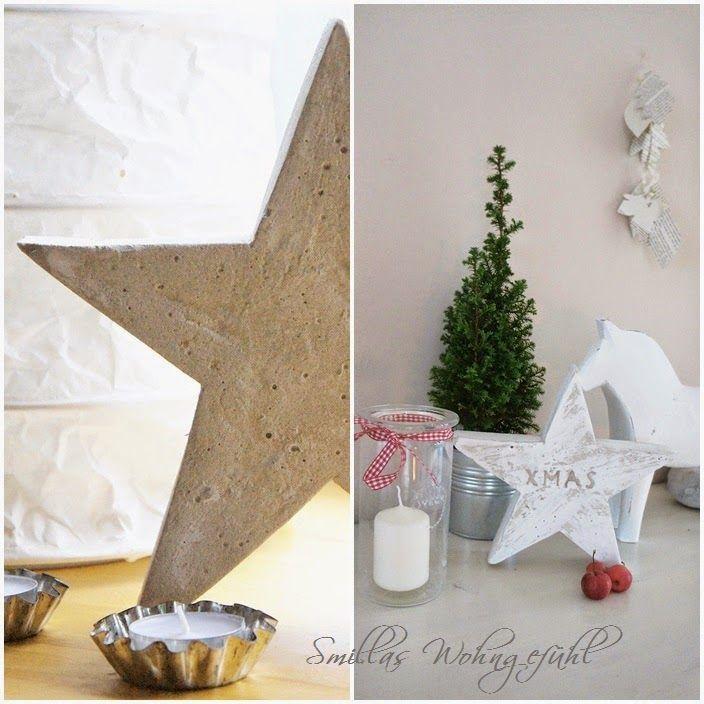 DIY: a star is born! Beton-Sterne ;-) | Weihnachtsideen und Sterne