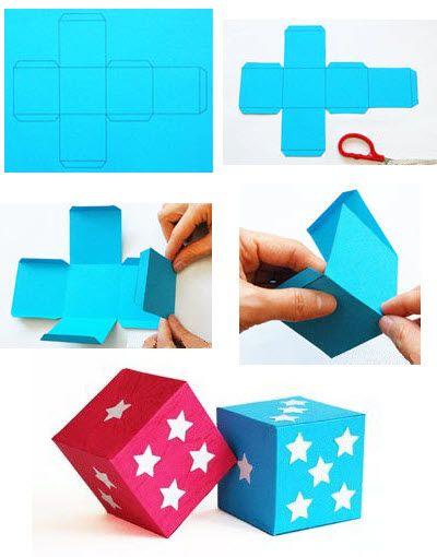 Gut gemocht fabriquer un cube en papier Plus | Patron | Pinterest | Cubes  FF69