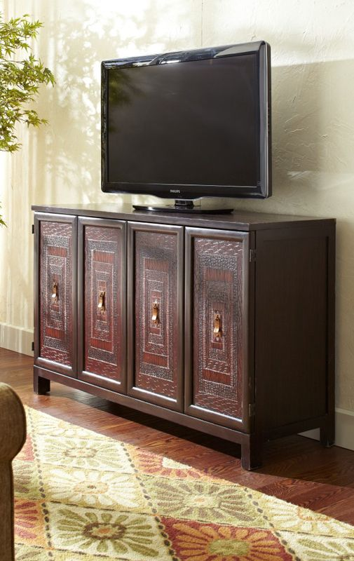 Design For Living Room Tv Cabinet: Set Your TV On Top Of A Colorfully Detailed Cabinet