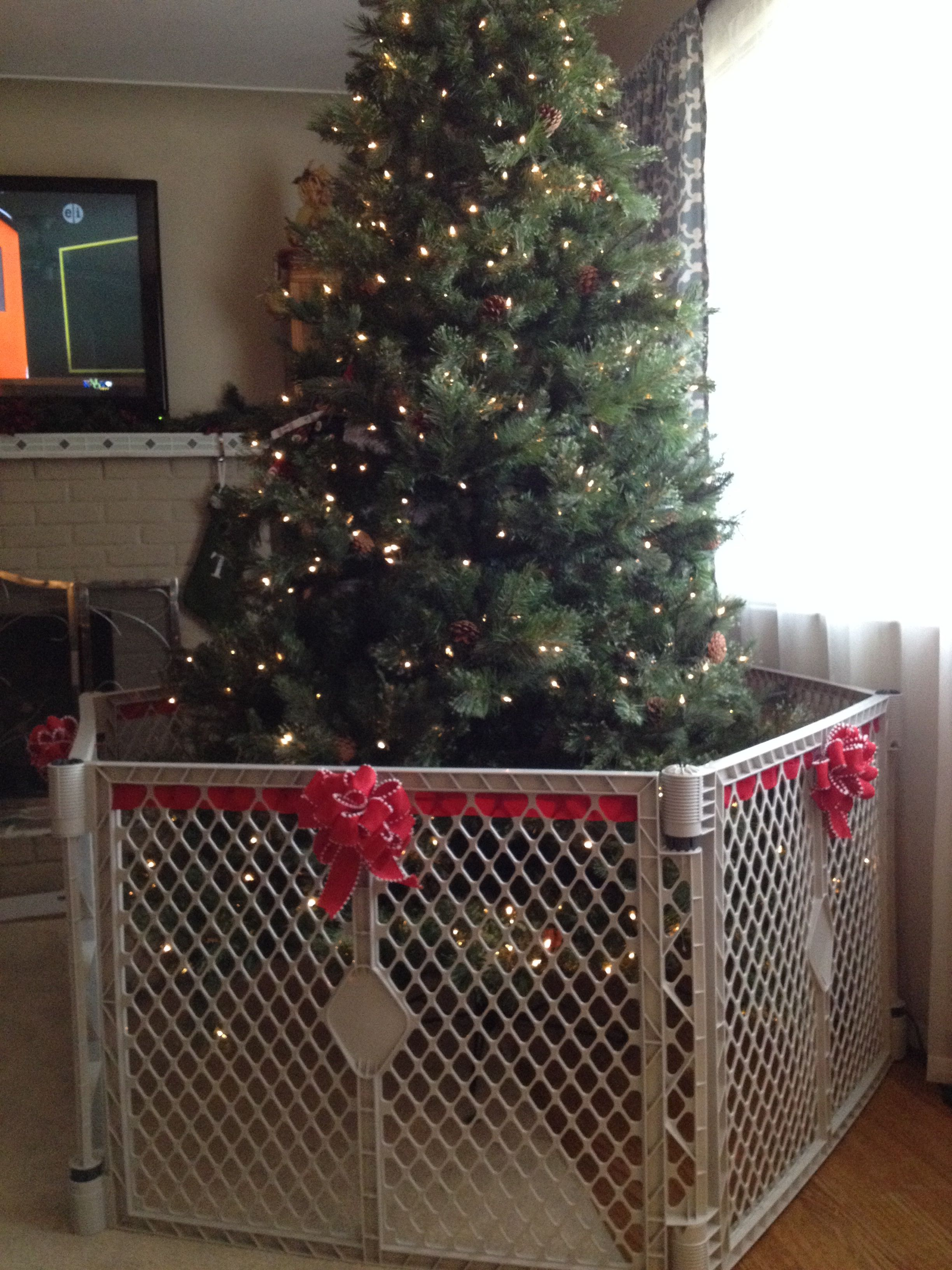 How To Make The Baby Gate Around The Christmas Tree Less Ugly