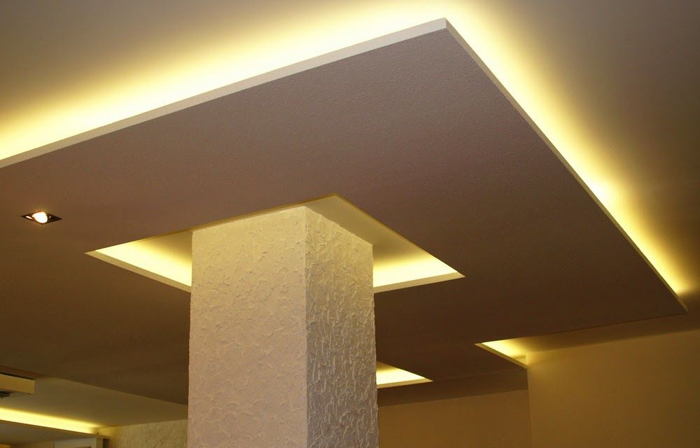 plasterboard false ceiling designs with ceiling lights for small ...