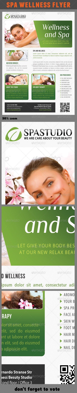 Spa Studio Flyer 19 — Photoshop PSD #fitness #flyer