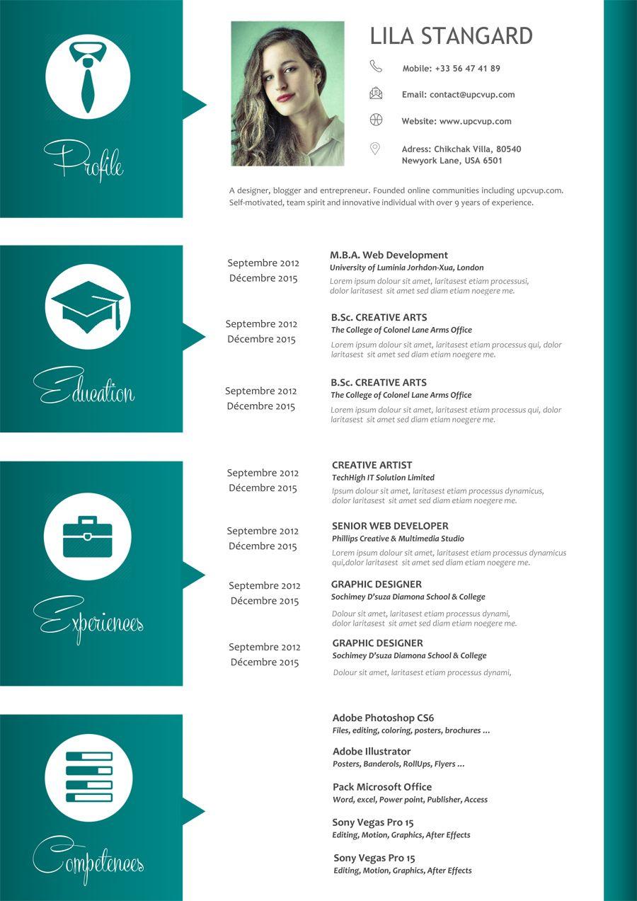 Modèle CV Original à télécharger format Word CV moderne