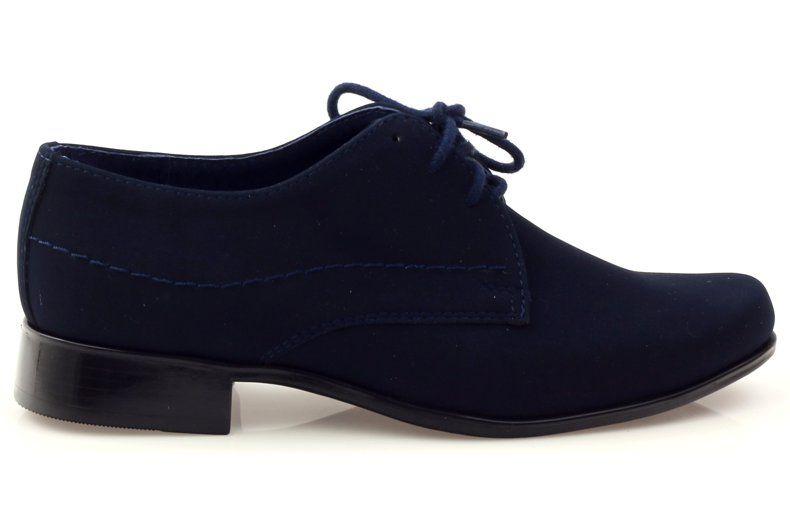 Polbuty Komunia Gregors 429 Granatowe Dress Shoes Men Shoes Womens Oxfords