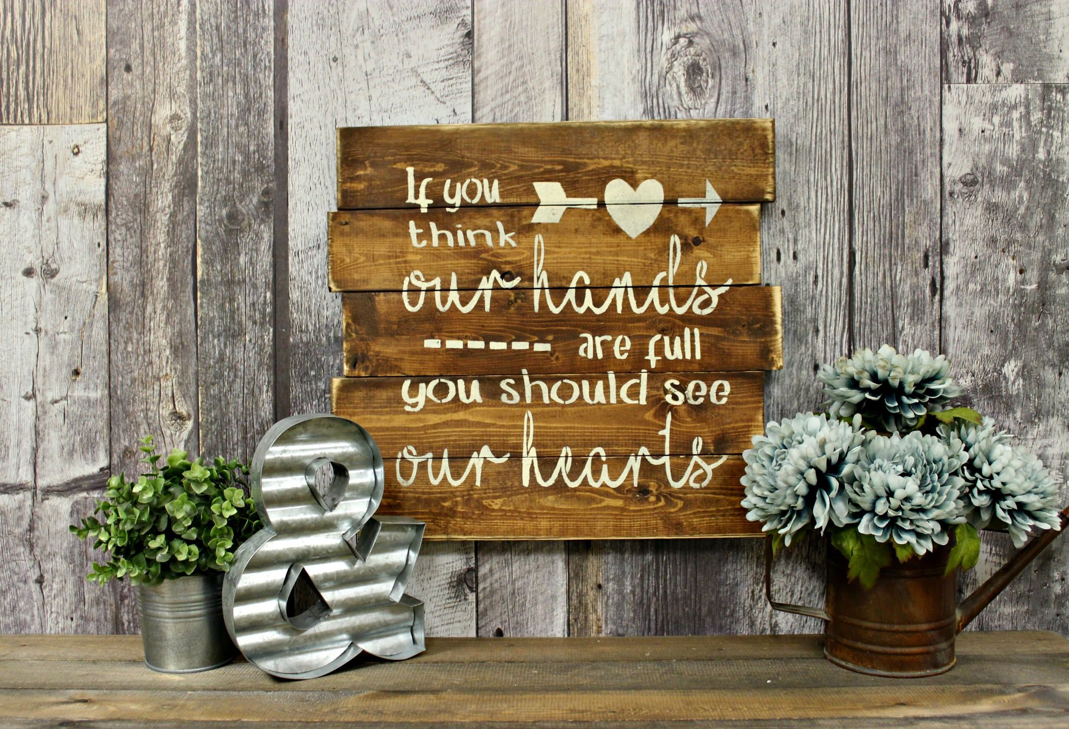 Rustic Decor Wood Sign Country Wall Love Family By Wherethecrowfliesca On Etsy
