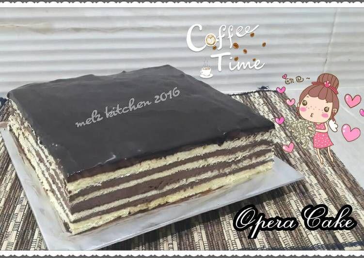 Resep Opera Cake Oleh Melz Kitchen Resep Kue Lapis Adonan Minuman