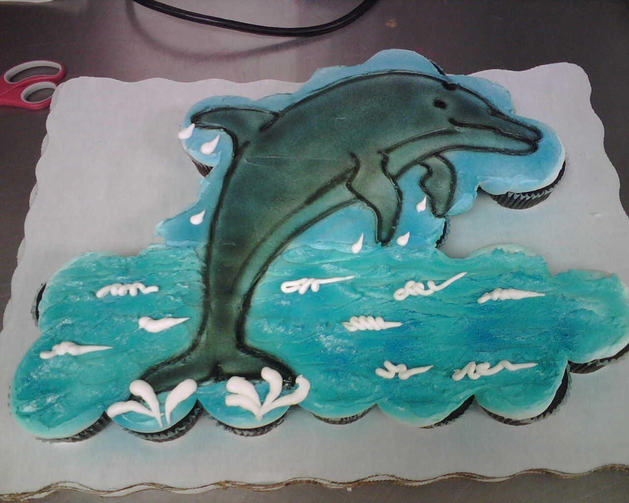Miraculous 24 Ct Dolphin Cupcake Cake Cupcake Cakes Dolphin Cupcakes Personalised Birthday Cards Veneteletsinfo