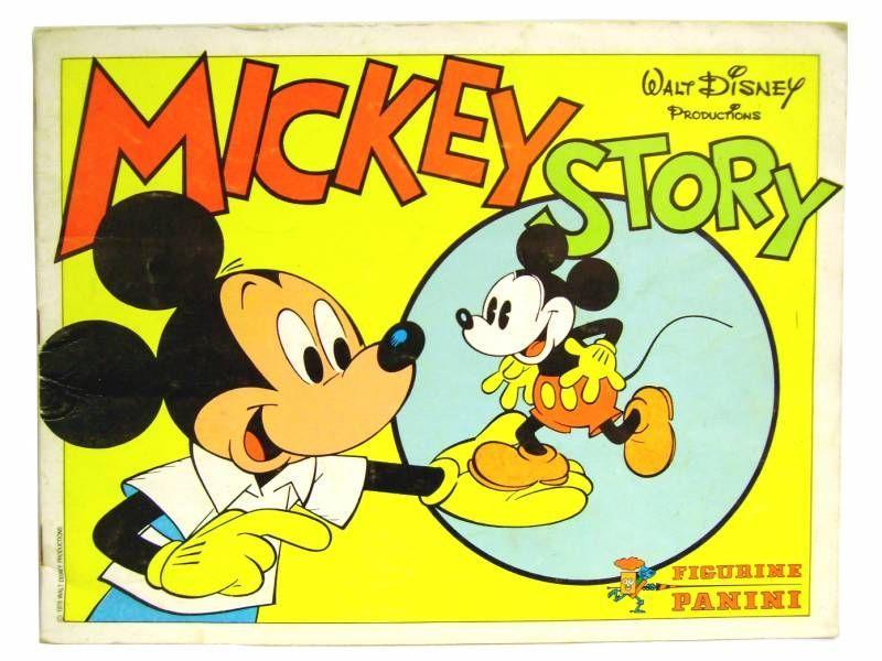 Mickey Story Album Panini Livre Disney Autocollant Vignette