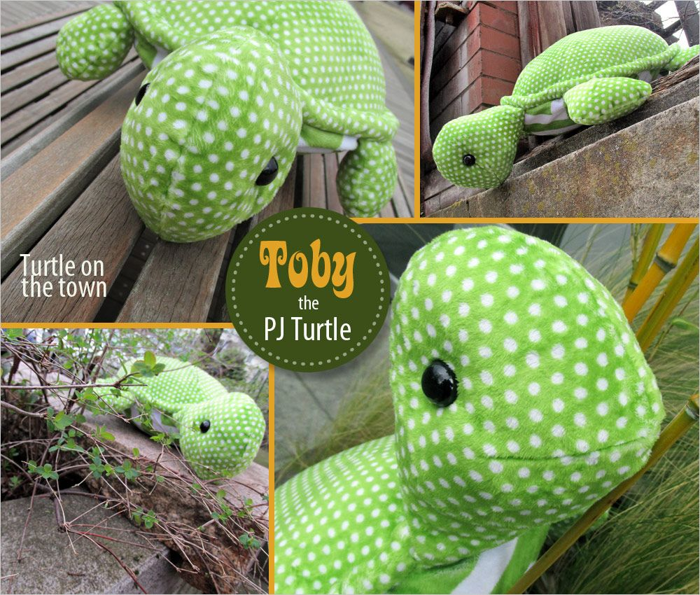 Toby the Turtle with a Hidden PJ Pocket | Sew4Home Schildkröte ...