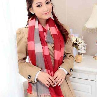 Color-Block Check Scarf from #YesStyle <3 Momiton YesStyle.com