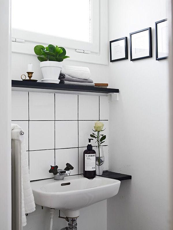 salle de bain noire et blanc Mon futur chez moi Pinterest