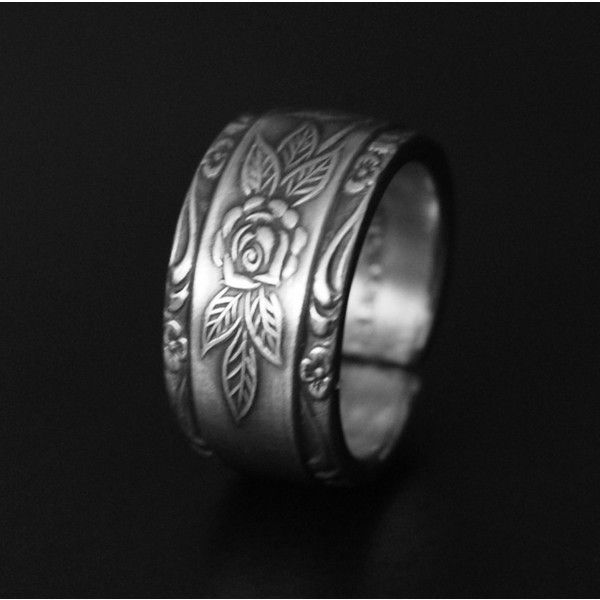 Amazing Beauty and The Beast Rose Spoon Ring Stainless Steel Nearly Any