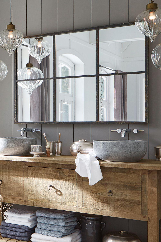 Miroir rectangulaire industriel  Salle de bains  Bear  Loberon