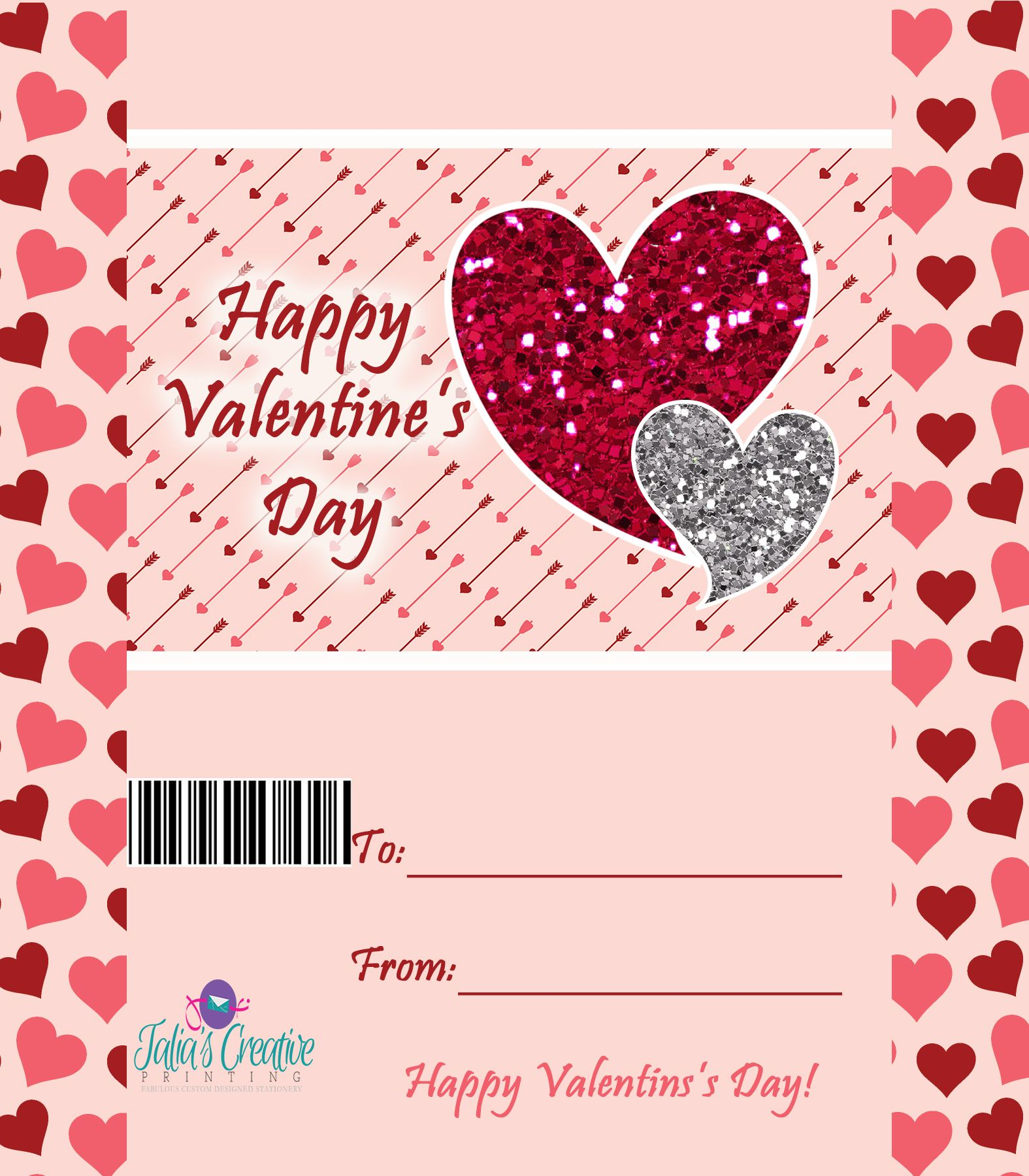 Valentine S Day Candy Bar Wrapper