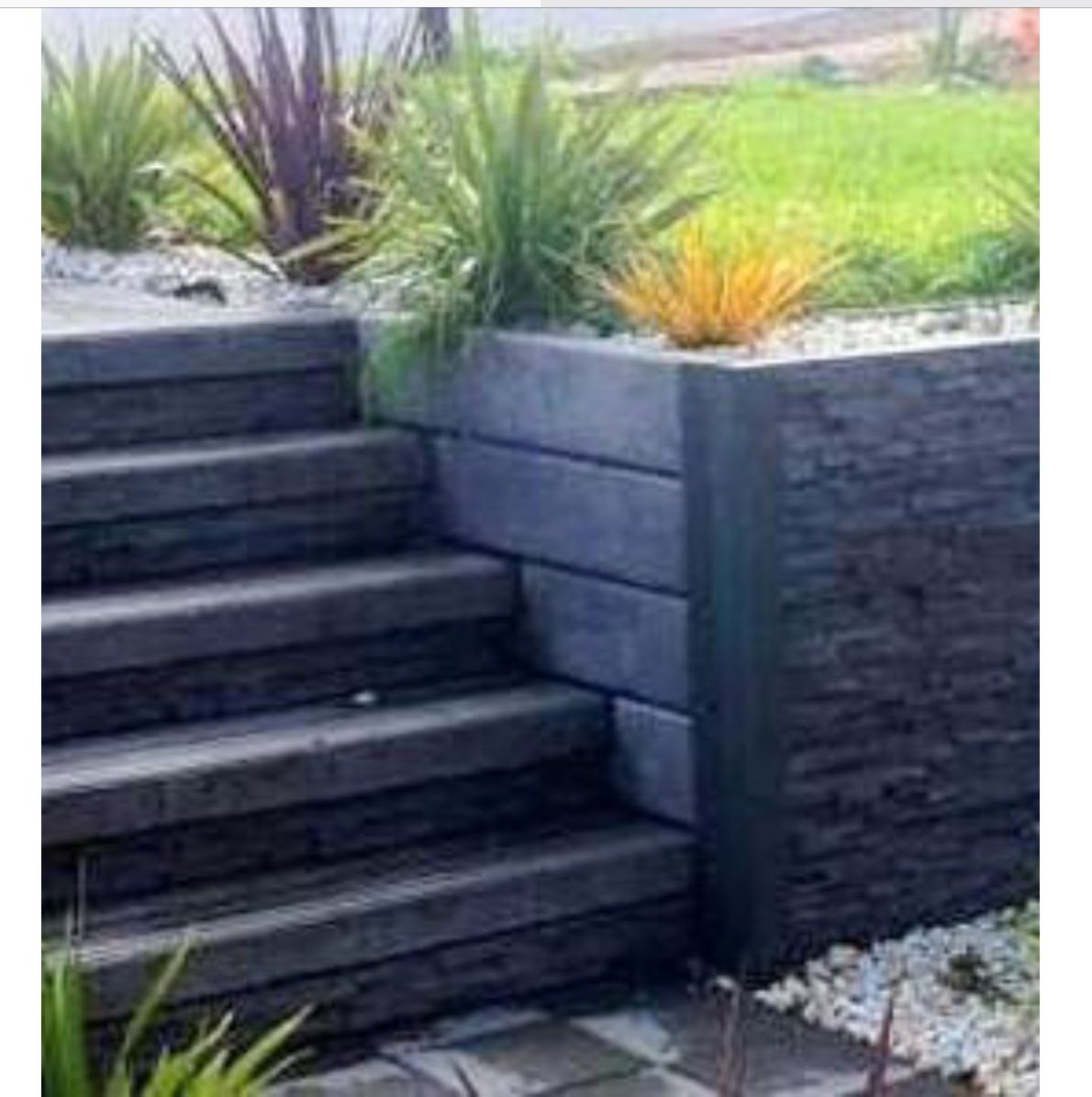 The Pioneer Smooth Grey Concrete Sleeper Painted Unpainted For More Information V Sleeper Retaining Wall Concrete Sleepers Concrete Sleeper Retaining Walls