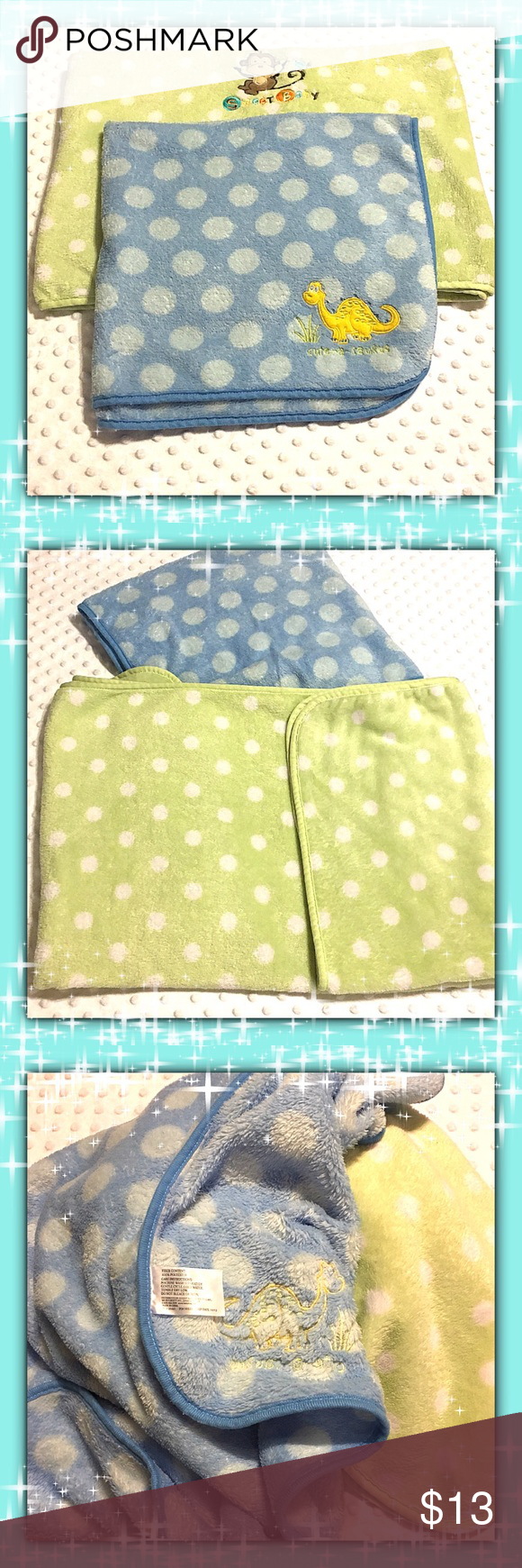 Baby Blanket Bundle Two 100 Polyester Baby Blankets Like New Excellent Condition Accessories Baby Blanket Baby Blanket