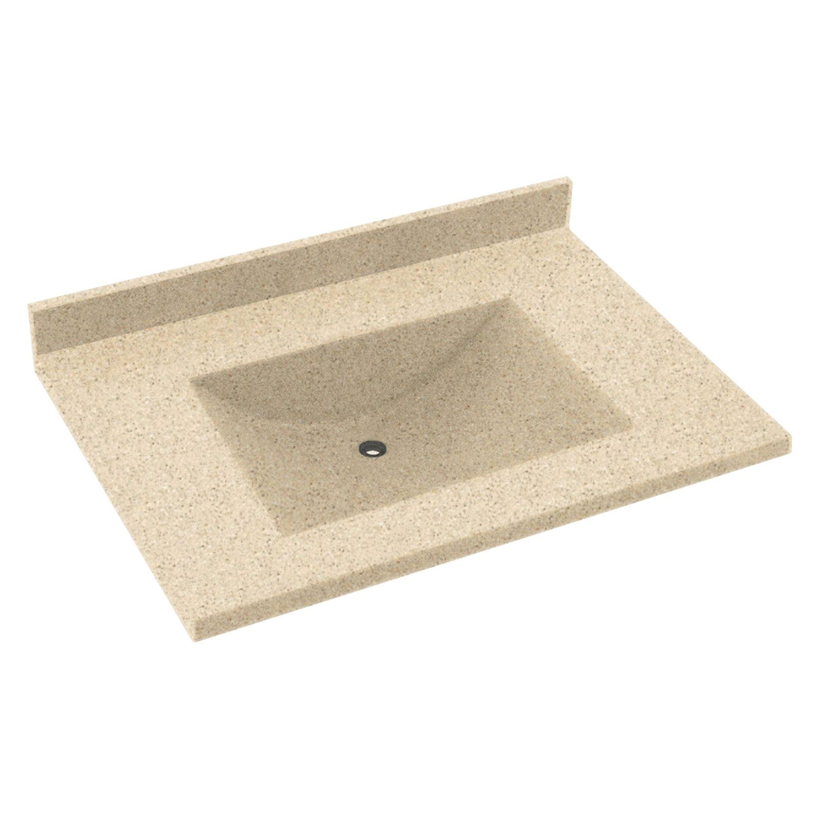Swanstone 31w X 22d In Contour Solid Surface Vanity Top Arctic