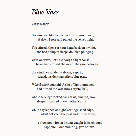 Find the perfect poem for the one you love at Poets.org ...