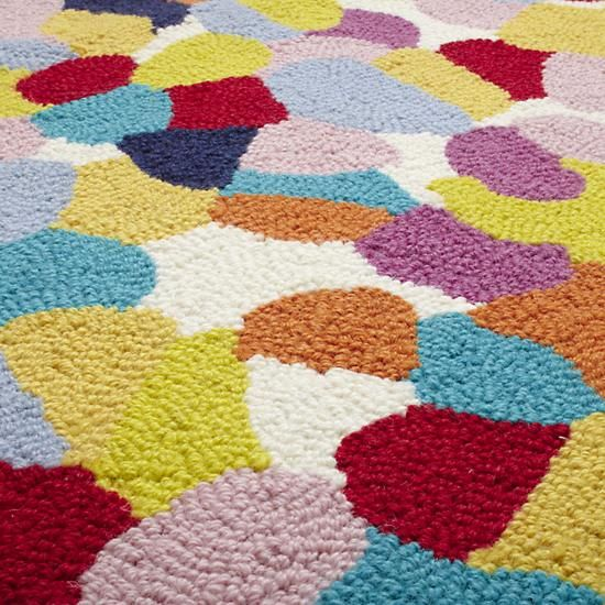 The Land of Nod   Kids Rugs: Colorful Pebble Pattern Woven Rug in All Rugs