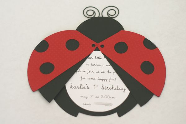 Invitation Party Ideas Pinterest Ladybug Party Party And Birthday
