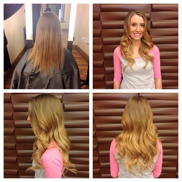 Hair Extensions Before And After By Kathryn Saunders Used Hot Heads