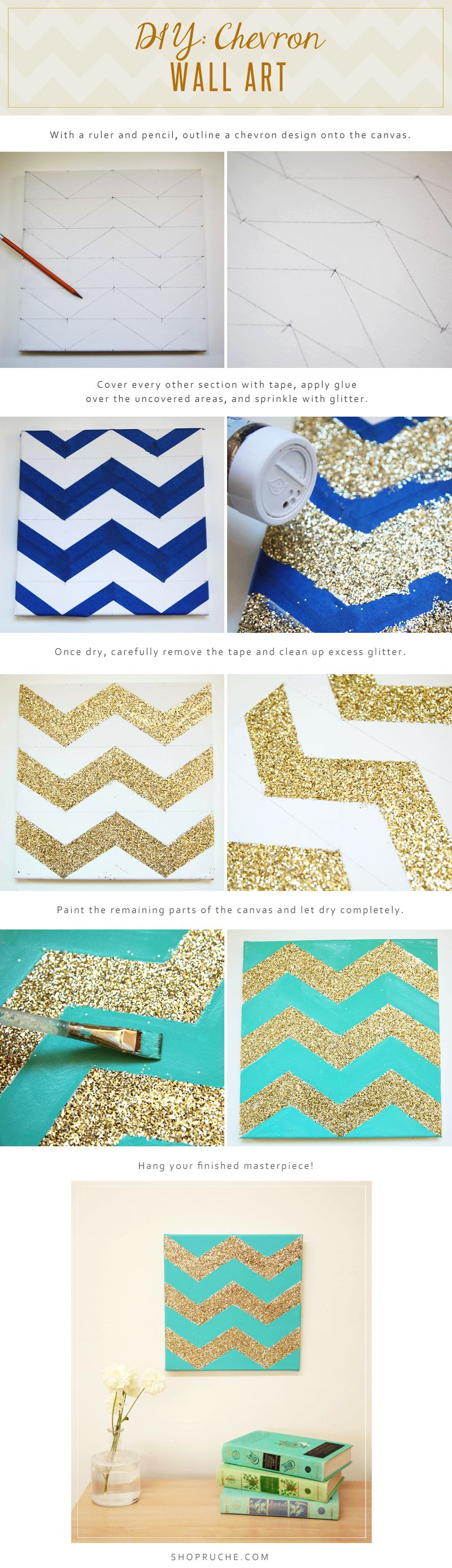 Photo of DIY: Chevron Wall Art. So cute with the colors. I will probly do pink #colors. #…
