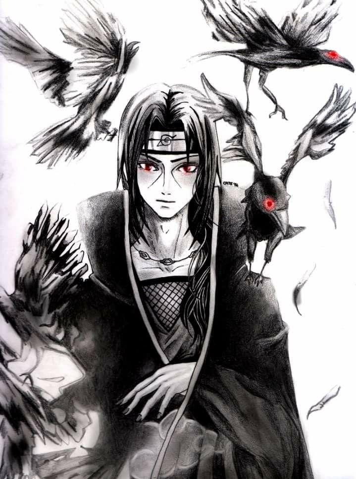Itachi Uchiha and his crows Wallpaper Sharingan Genjutsu
