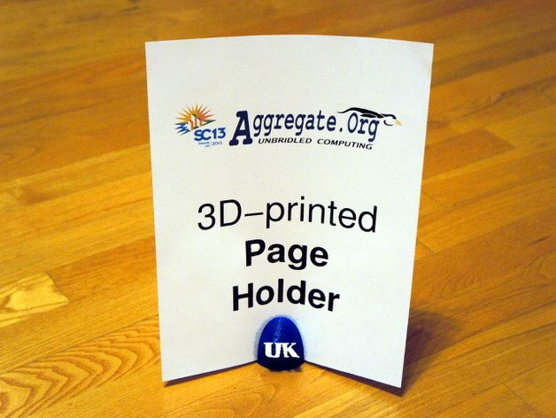 SC13 Aggregate Org/UK Page Holder by profhankd - Thingiverse