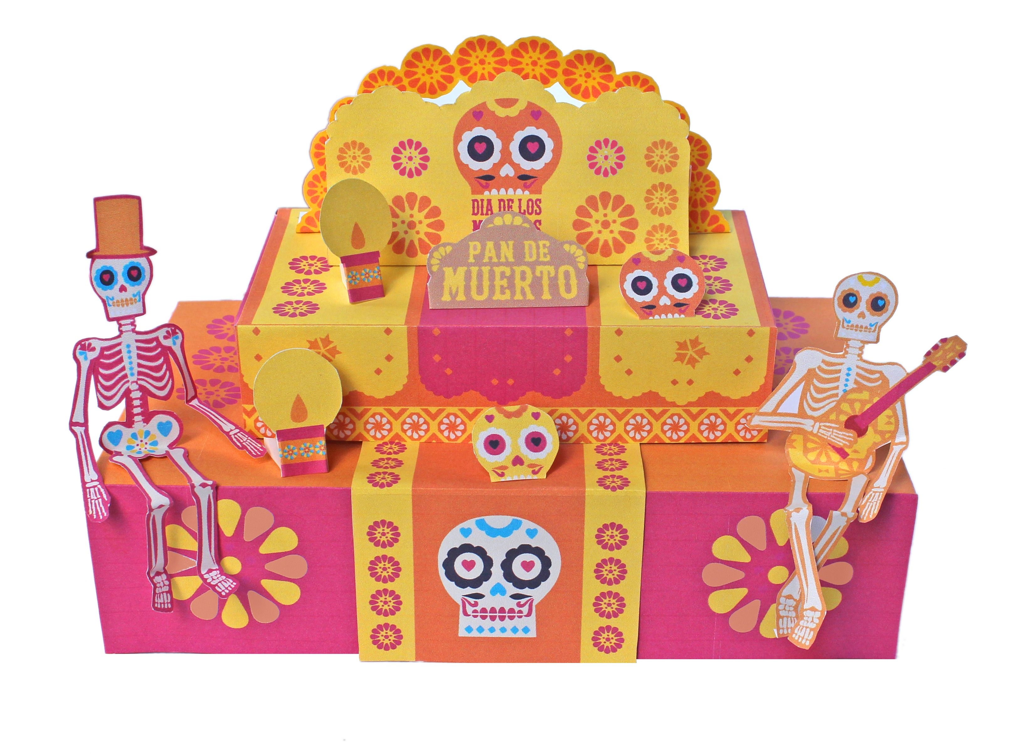 Printable Day Of The Dead Ofrenda By Happythought