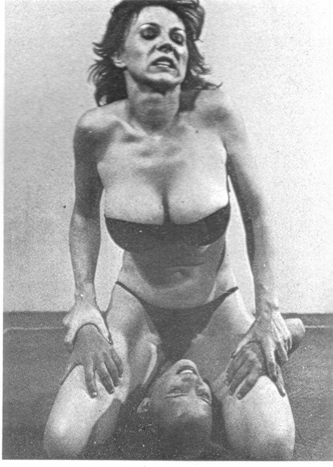 Busty women wrestleing