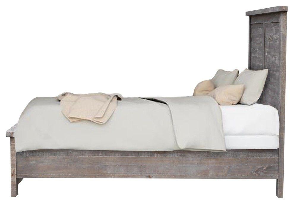 Best Denver Light Gray Wooden Platform Bed Queen Wooden 640 x 480
