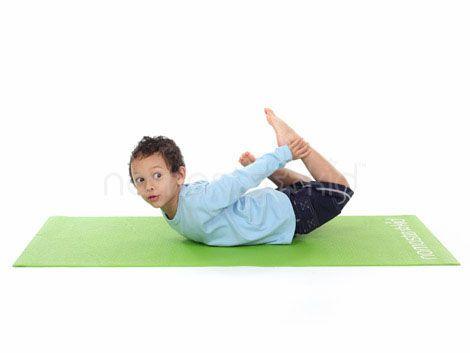 Floor bow pose dhanurasana via namaste kid yoga poses for Floor yoga poses