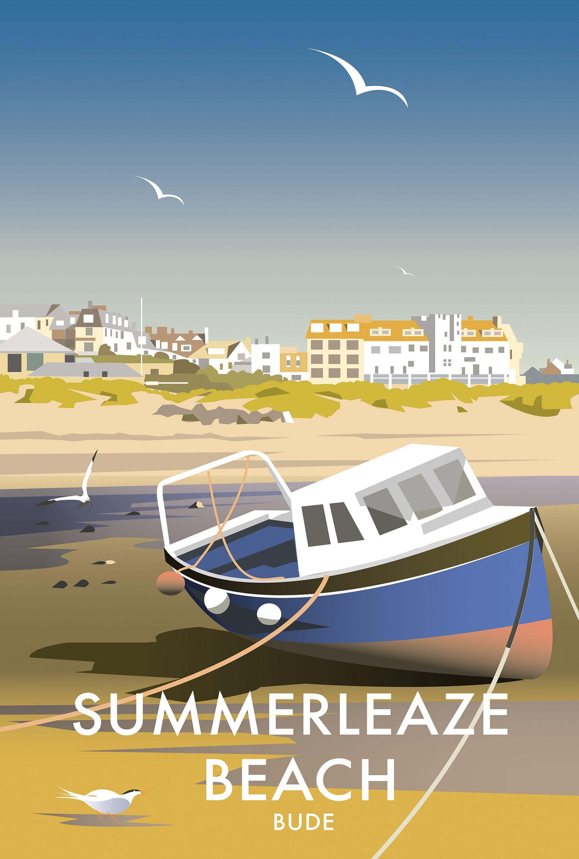 summerleaze beach dt91 coastal scenes art print by dave. Black Bedroom Furniture Sets. Home Design Ideas