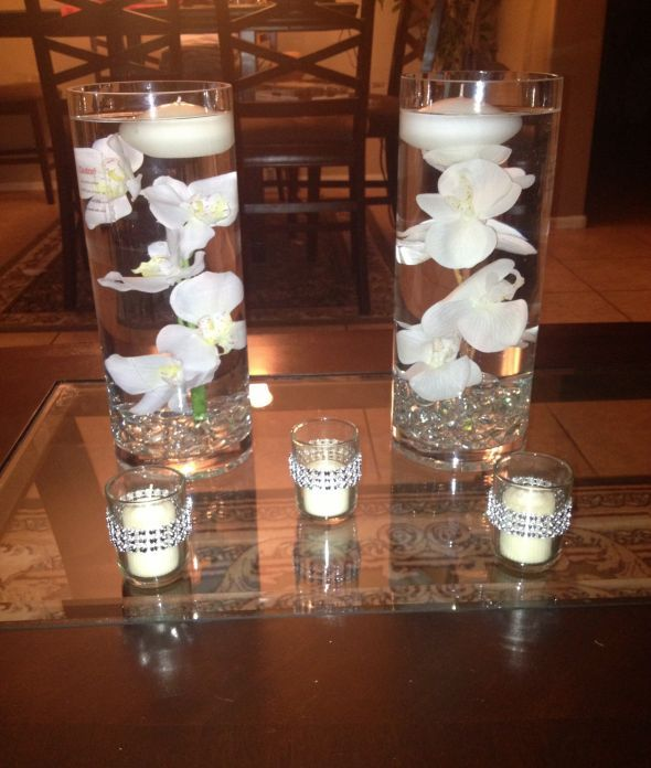 Floating Petals Centerpieces: Floating Candle Centerpieces - Weddingbee