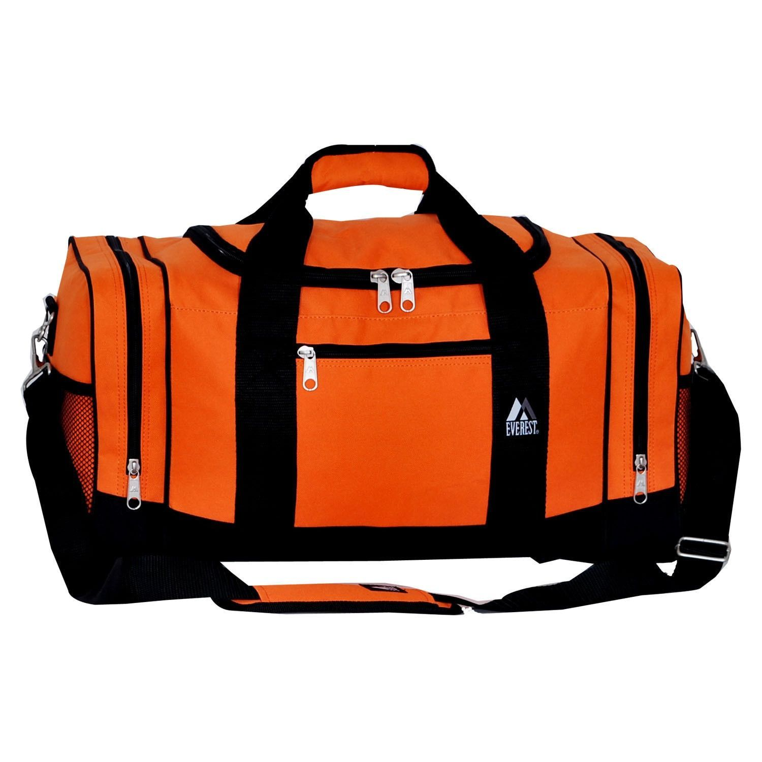 Everest 20-inch Sporty Gear Polyester Carry On Duffel Bag with Strap (Orange   a90fe51e4a