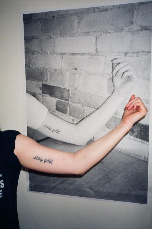 stay gold tattoo via Tattoologist