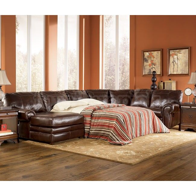 Sectional Sleeper Recliner chaise | Merrion - Mahogany Left Chaise Reclining Sectional w/ Sleeper Details & Sectional Sleeper Recliner chaise | Merrion - Mahogany Left Chaise ... islam-shia.org