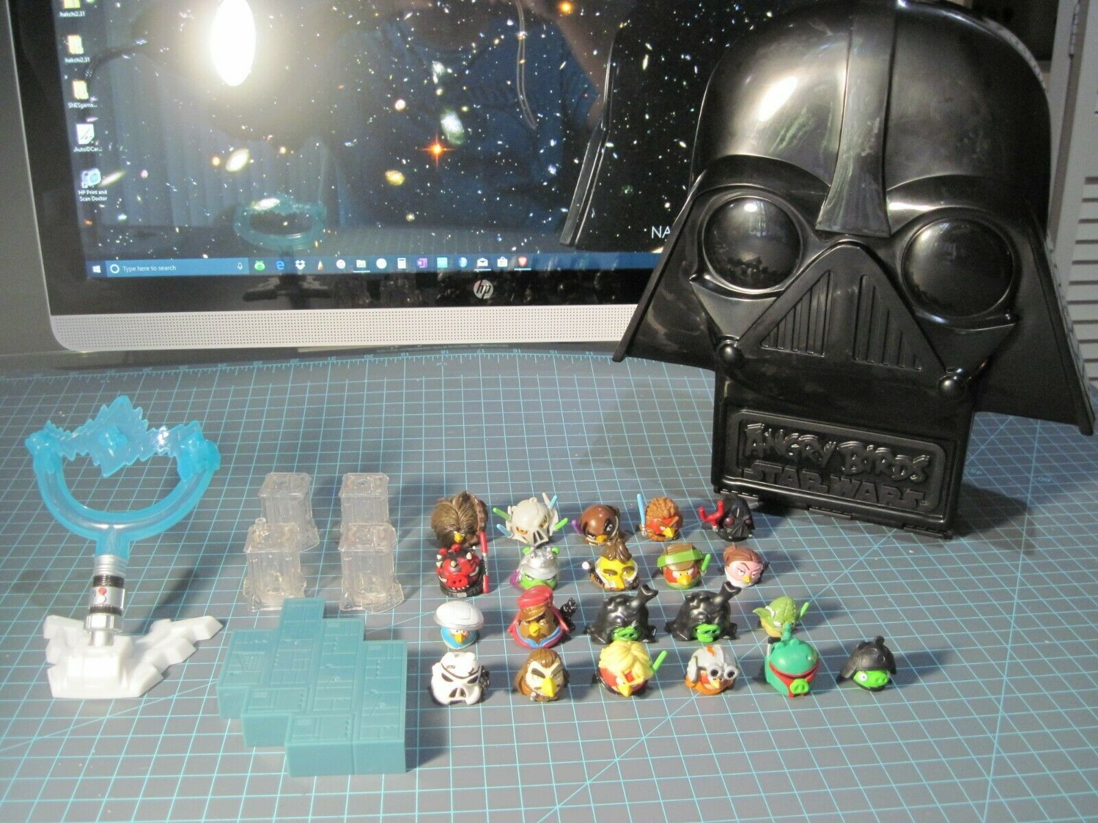 Star Wars Angry Birds Telepods Lot Han Solo Darth Vader Sith