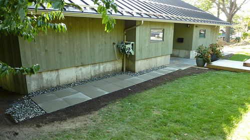 Pea Gravel Border Around The Foundation Of The House Makes Maintenance And  Mowing Easier; Prevents Erosion From Gutters   Hugh Jefferson Randolph Au2026  ...
