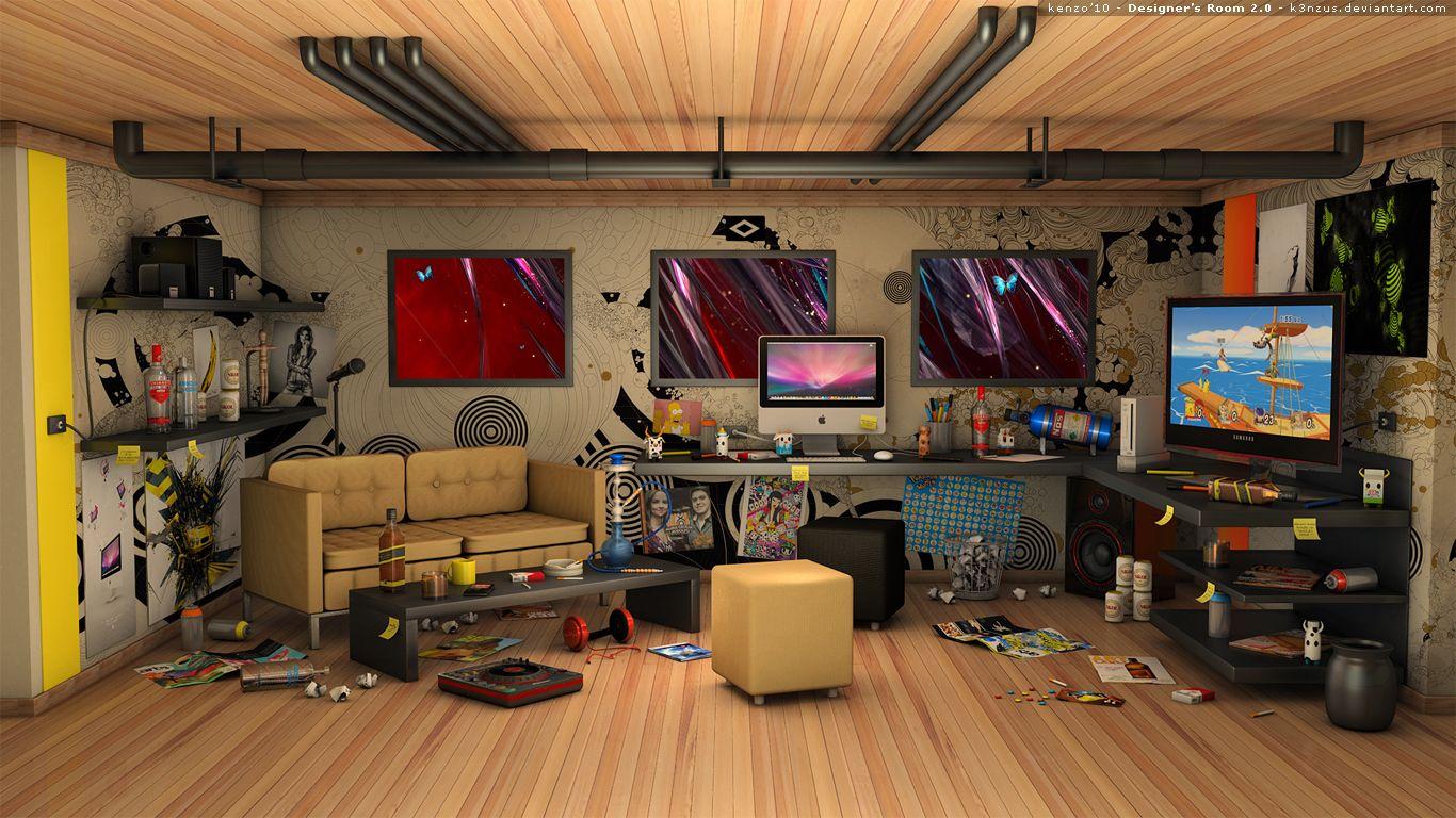 Habitacion desordenada en el sotano 3d 3d pinterest for Planificador habitacion 3d