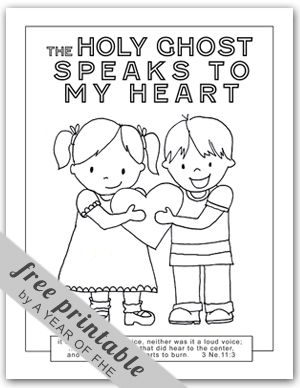 Primary Lessons Holy Ghost Coloring Page FREE Via A YEAR OF FHE