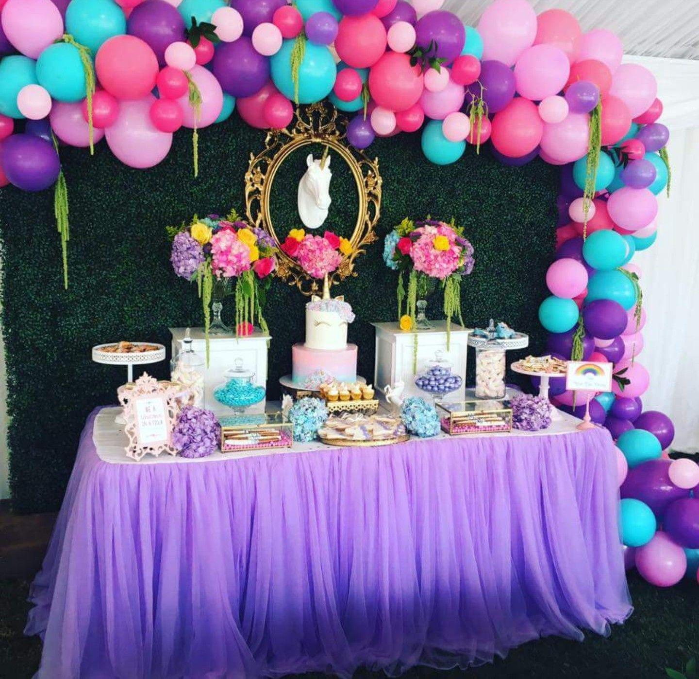 Pin By Pretty Brilliant Women S Clo On Unicorn Babyshower Unicorn Theme Party Rainbow Birthday Party Birthday Party Decorations