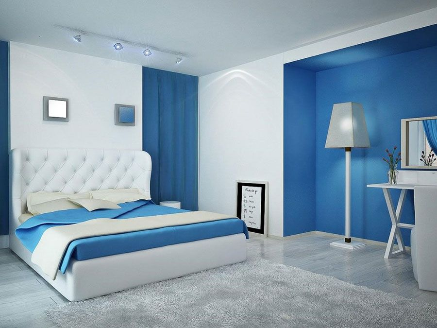 Camera Da Letto Blu : Idee camere da letto moderne u colori illuminazione arredo