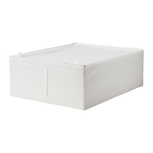 IKEA - SKUBB, Opbevaringstask, hvid, 44x55x19 cm, , Du kan placere sengeskuffen under sengen - den er perfekt til ekstra sengetøj og puder.Nem at trække ud, fordi opbevaringstasken har et håndtag.Beskytter tøjet mod støv.Tøj og tekstiler, du opbevarer, holder sig friske i længere tid, fordi ventilationsnet i hjørnerne tillader luftcirkulation.