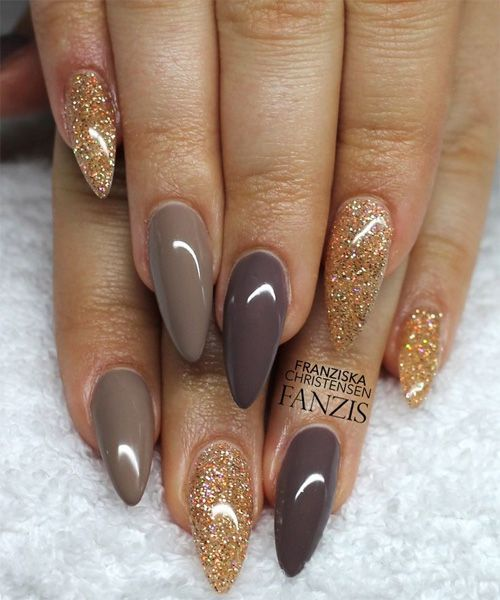 Untitled Pointy Nails Nails Acrylic Nails Almond Glitter