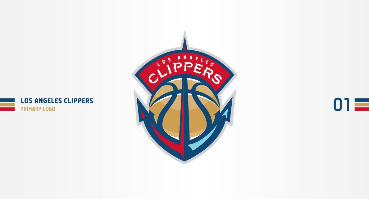 029f3bf2 Los Angeles Clippers Concept on Behance | Mascot Branding And Logos ...